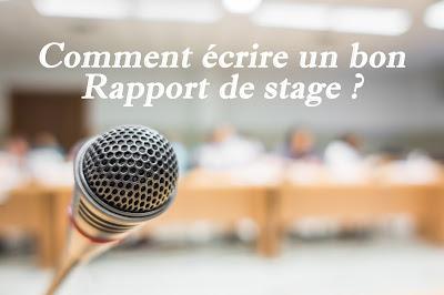 Comment écrire un bon rapport de stage ?