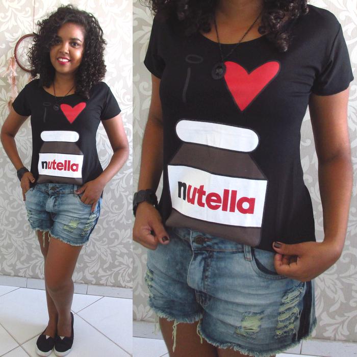Looks para Faculdade, Stille Shop, nutella, i love nutella, t-shirt nutella, camiseta nutella, eu amo nutella