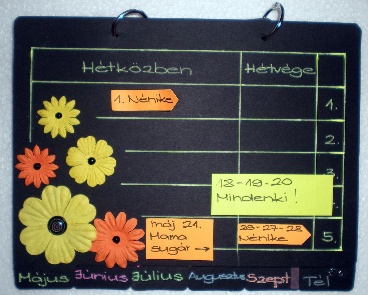 yabo naptár Alkotós blog: A vidám fekete  Yabo naptárak új feladattal yabo naptár