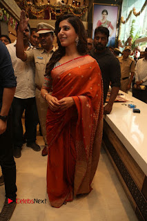 Actress Samantha Pictures in Saree at South India Shoping Mall Launch 0270