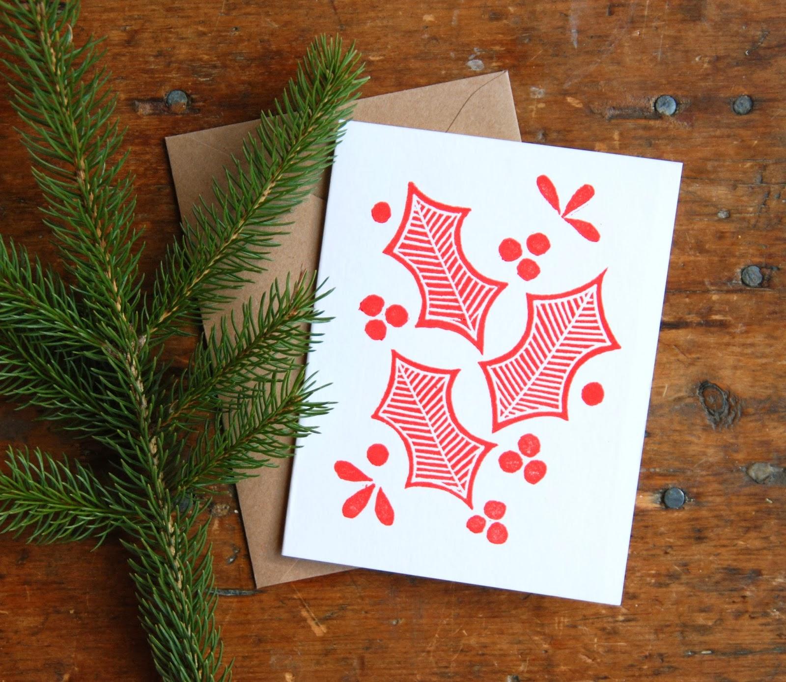 katharine watson new block printed holiday cards