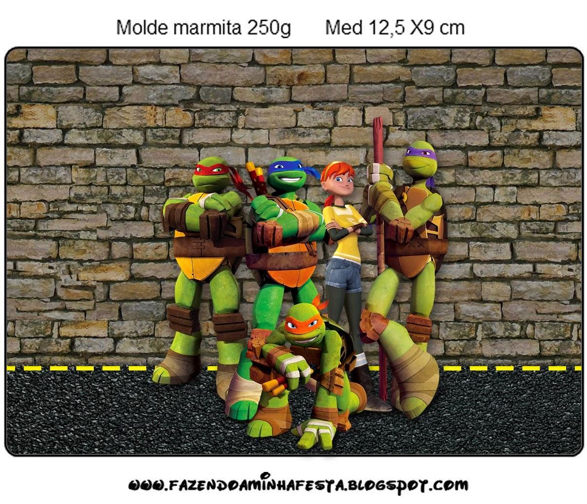 Ninja Turtles Free Printable Candy Bar Labels