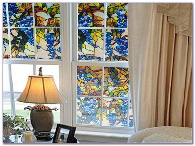 Peel And Stick On Stained GLASS WINDOW Film