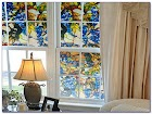 Stick On Stained GLASS WINDOW Film