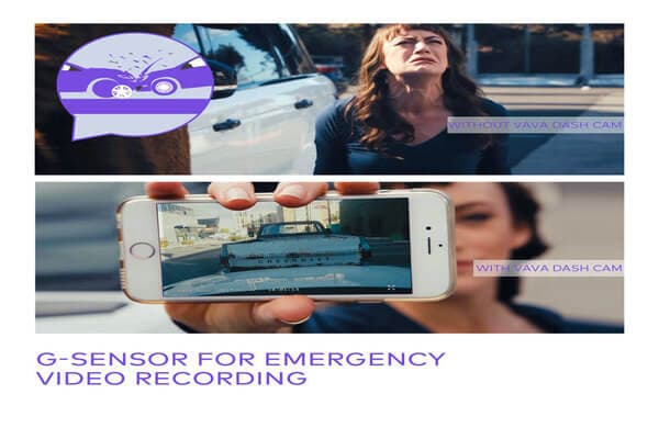 Vava Dash Cam Video Recording