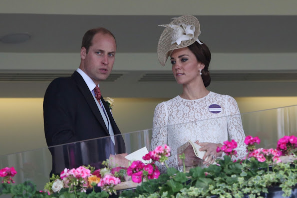 Kate Middleton and Prince William attends Royal Ascot Kate Middleton wore Dolce & Gabbana Cotton-Blend Lace Dress