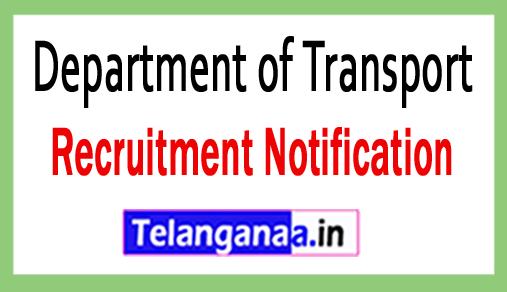 Department of Transport Andaman / Nicobar Recruitment