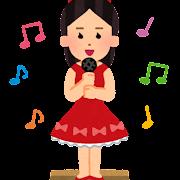 ダンボール箱の上で歌う人のイラスト