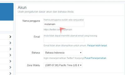 Mengganti Username di Twitter