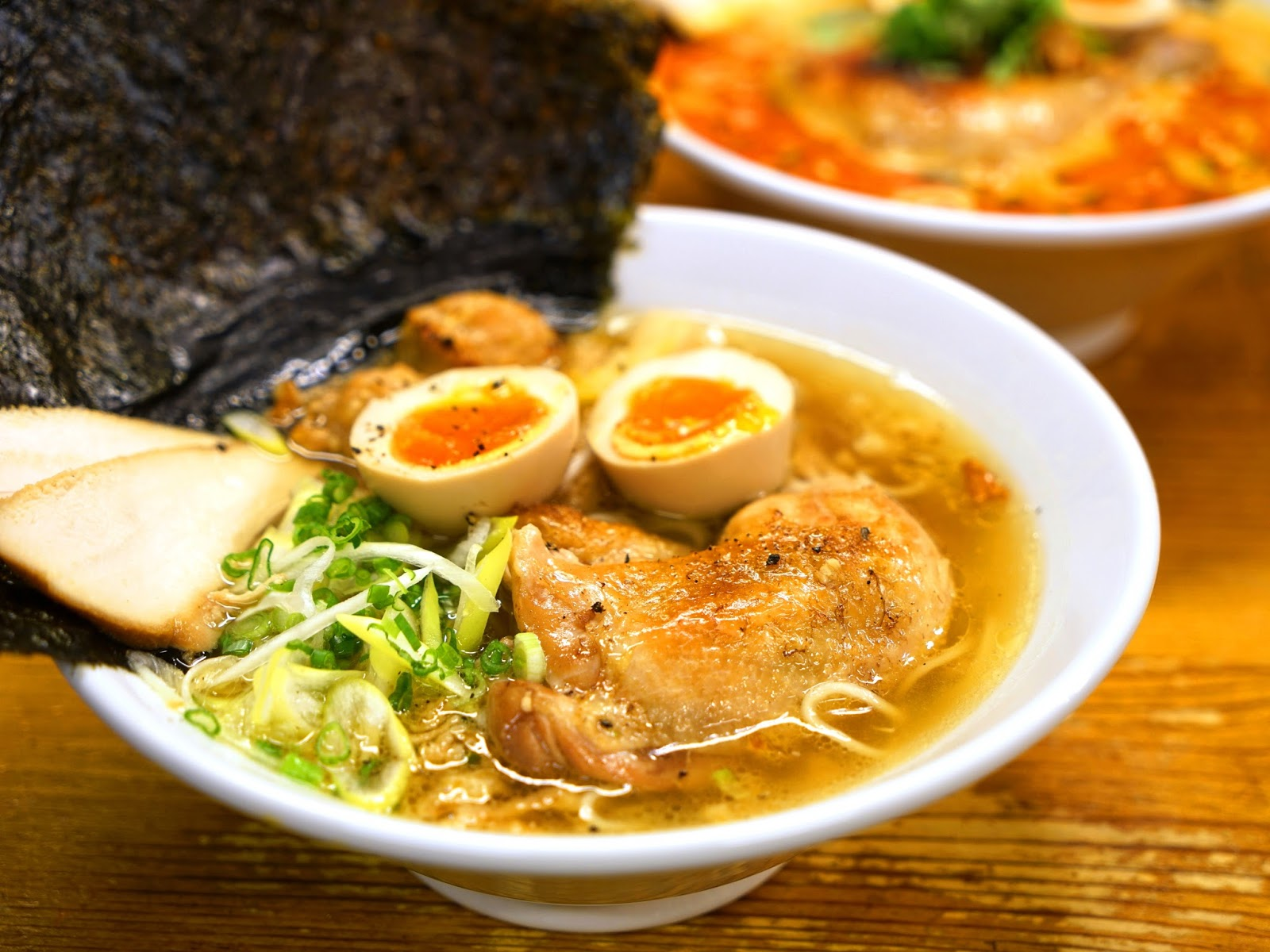 ... or all toppings such as chicken chashu, chicken meatballs and seaweed