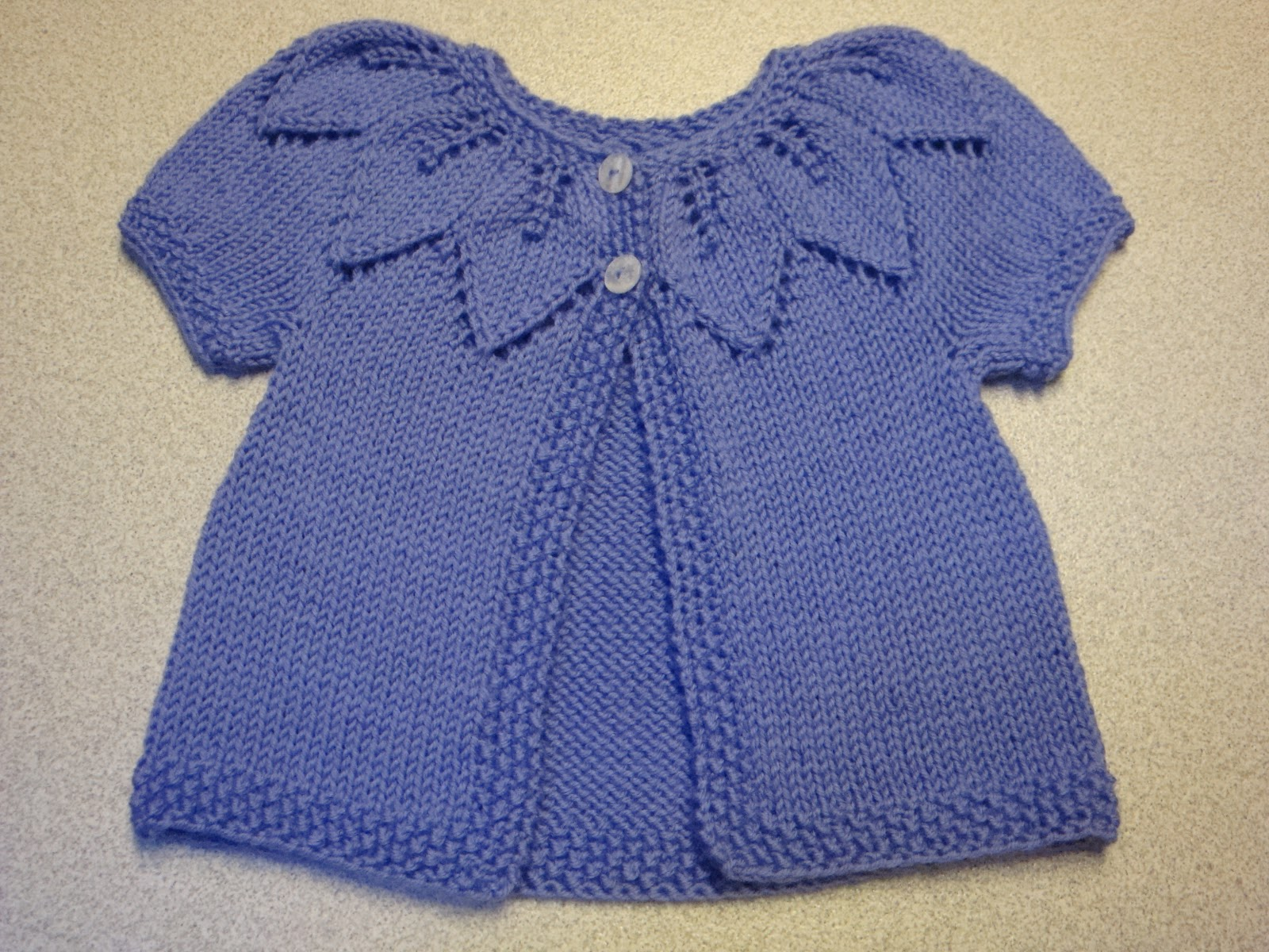 db1774918c0f Kim s Knitting Korner  Lavender Leaves  A sweet sweater for Baby ...
