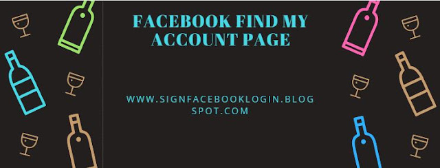 Facebook Find My Account Page