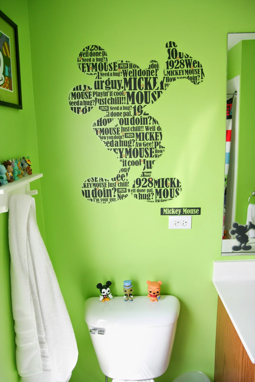 Jeff And Amy Adoption Blog Mickey Mouse Pop Bathroom