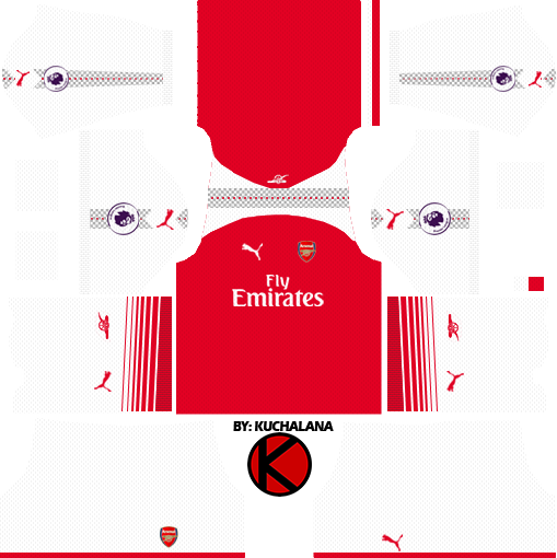 the latest de96e 5266f Arsenal Kits 2017/18 - Dream League Soccer - Kuchalana