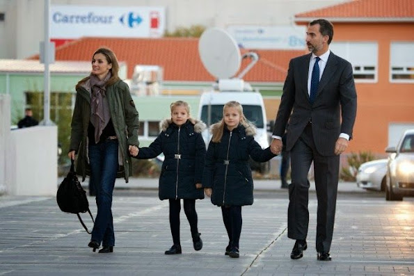 Prince Felipe, Princess Letizia and their daughter İnfanta Leonor and infanta Sofia visited King Juan Carlos