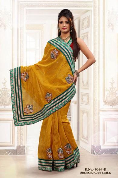 4e23623140ee68 Wedding Purposes: Banarasi, Kanjivaram, Muga Silk sarees are perfect for  wedding purposes. Rich silk, heavy embroidery, embellishments look  wonderful on a ...
