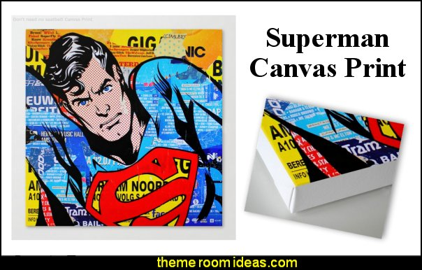 superman canvas art  superman bedroom decorating ideas - superman decor - superman wall murals - superman bedding - Superheroes bedroom ideas - batman - spiderman - superman phone booth bedroom ideas - Superman bedroom decor