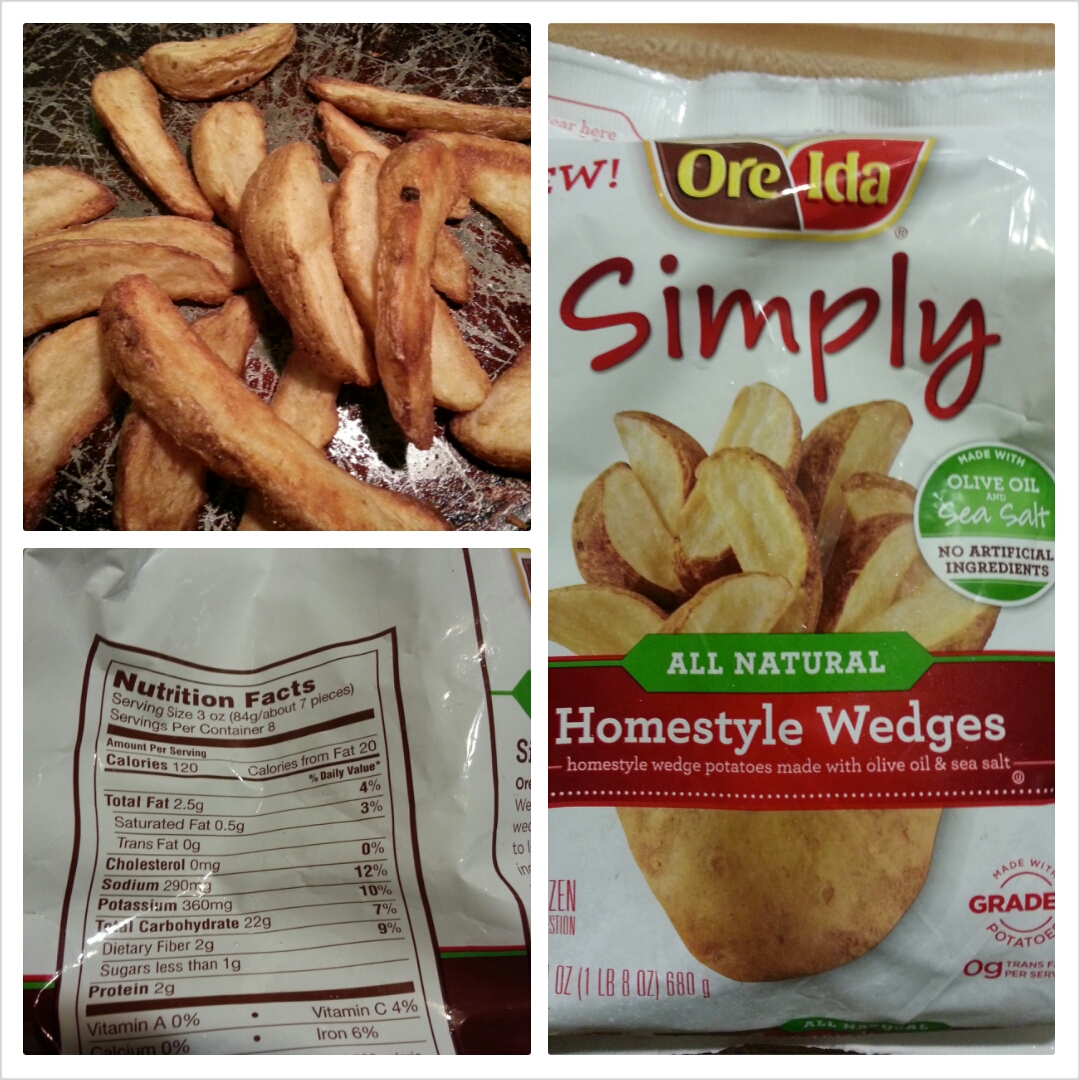 Shannon's Lightening the Load: Ore-Ida Simply Potato Wedges Fried Potato Wedges Calorie