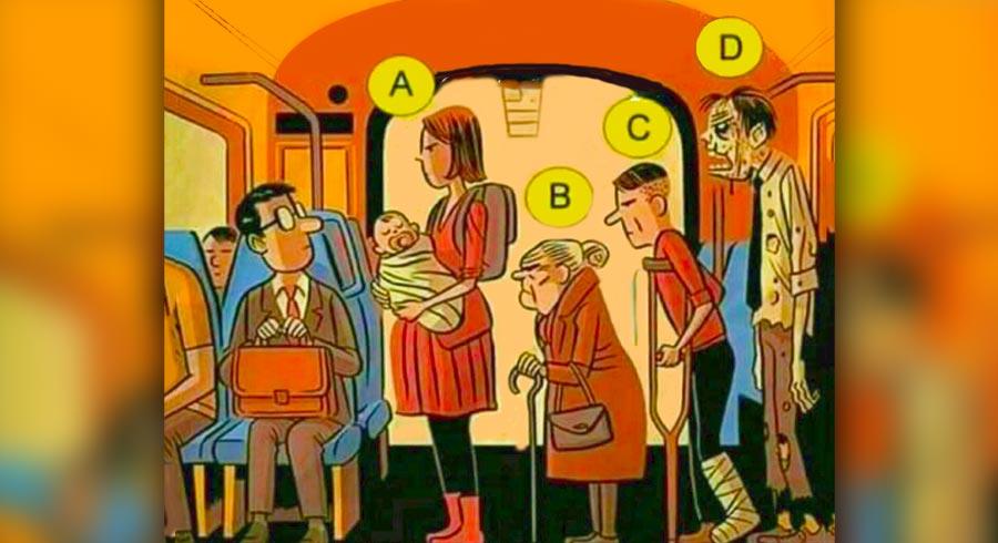 Acertijo de valores: ¿A quién le darías tu asiento?
