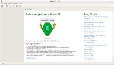 robomongo on lubuntu 16.04