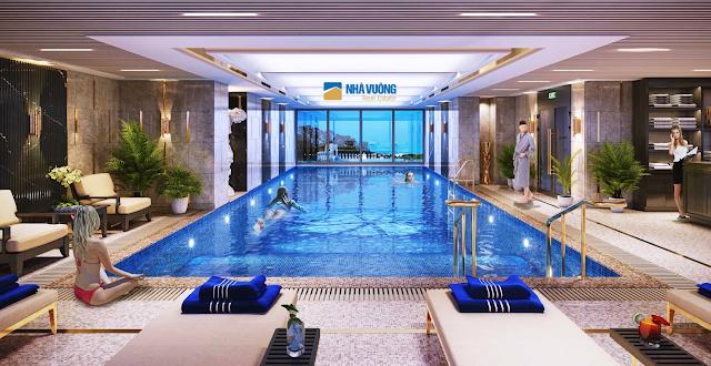 Bể bơi chung cư Núi Trúc Square