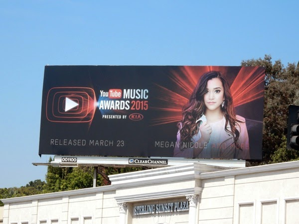 Megan Nicole 2015 YouTube Music Awards billboard