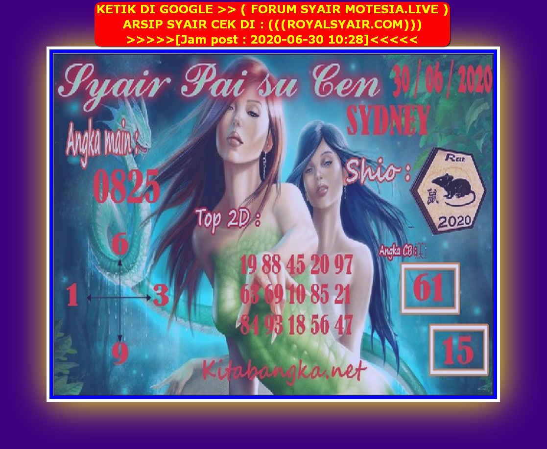 Kode syair Sydney Selasa 30 Juni 2020 153
