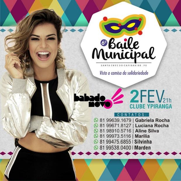 Baile Municipal já repassou quase 80 mil reais para entidades filantrópicas de Santa Cruz do Capibaribe