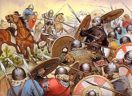 Image result for Anglo-Saxons invaders