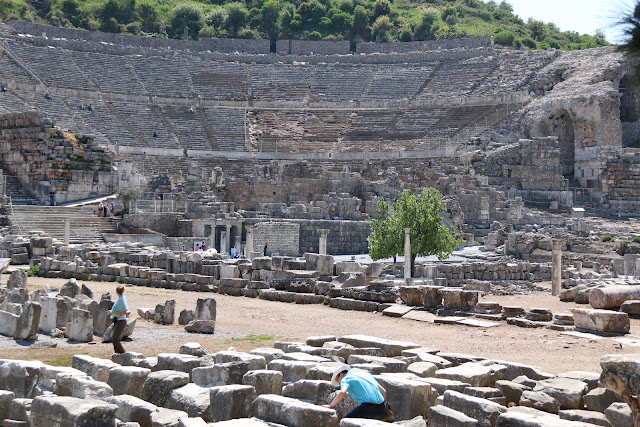 The remains of Ephesus Theatre in Kusadasi, Turkey