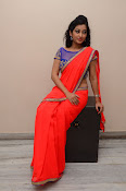 tejaswini sizzling photos in saree-thumbnail-8