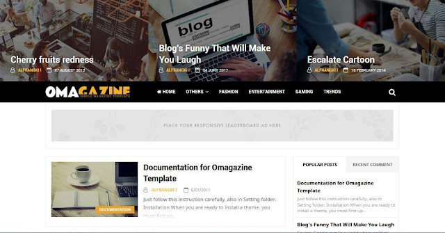 OMagazine - Template Blog Simple Sederhana Gratis