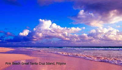 Pink Beach Great Santa Cruz Island, Filipina