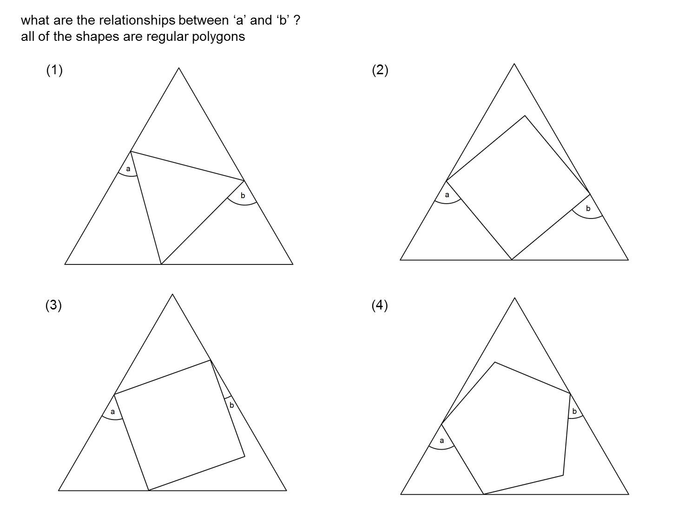 Median Don Steward Mathematics Teaching Regular Polygon Nesting
