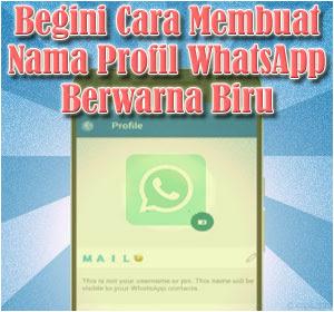 Cara Membuat Nama Profil WhatsApp Berwarna
