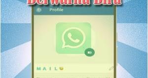 Begini Cara Membuat Nama Profil Whatsapp Berwarna Biru Spesial