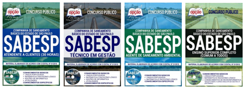 apostila da Sabesp 2018 para todos os cargos em níveis de ensino