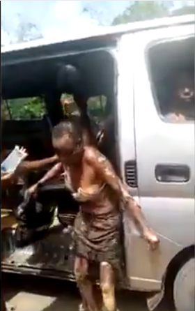 See Alleged Victims Of Imo Airport Fire Transported By Bus (Graphic Photos And Video)