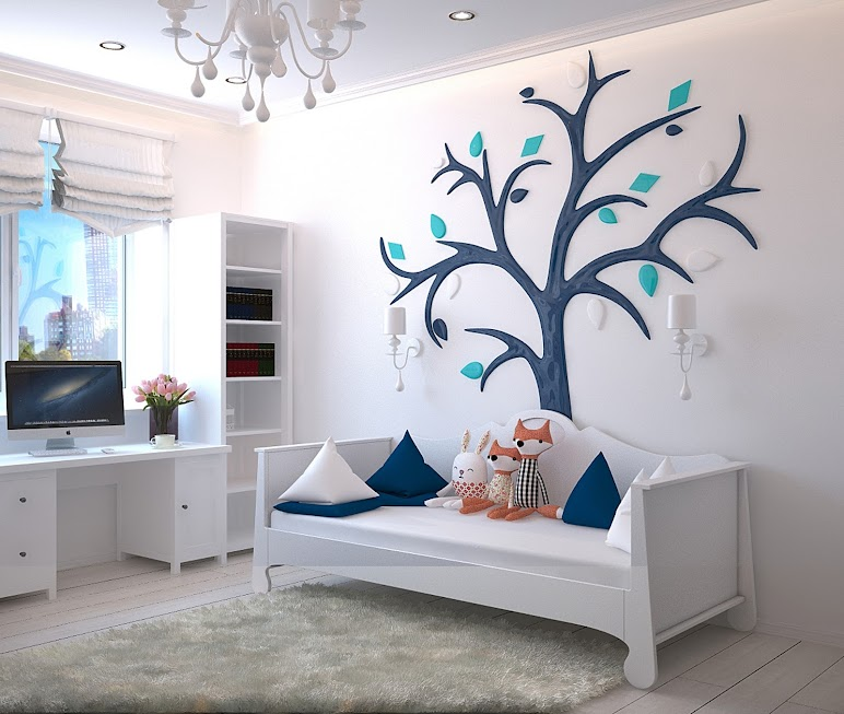 Comfort Contemporary Decorations Empty Bedroom Set
