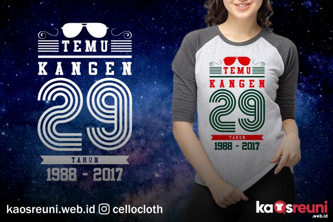 Contoh Desain Kaos Reuni Temu Kangen 29 Tahun - KaosReuni.web.id