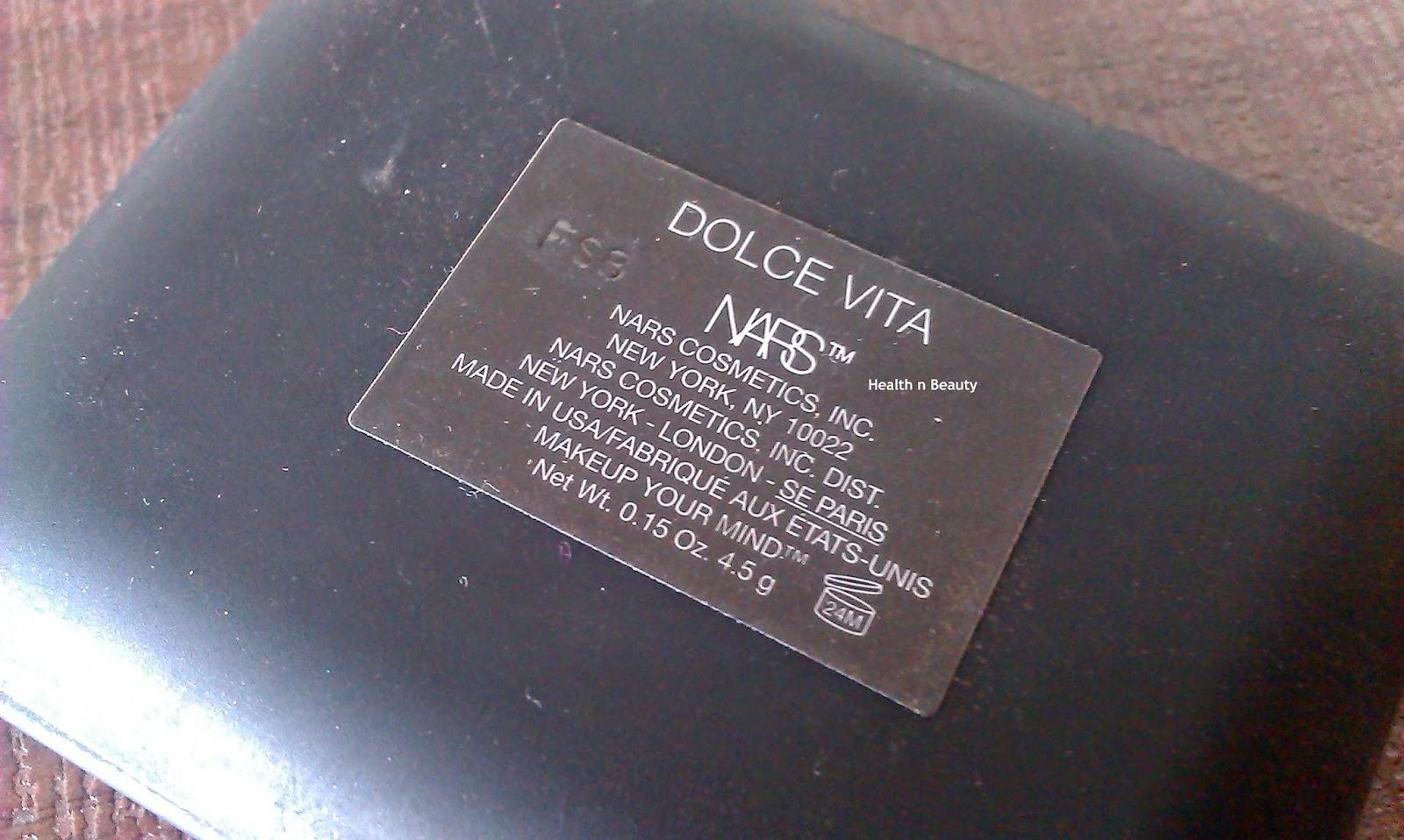 NARS Blush Dolce Vita Review Swatch