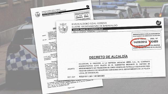 Decreto de adjudicación de los coches de policía