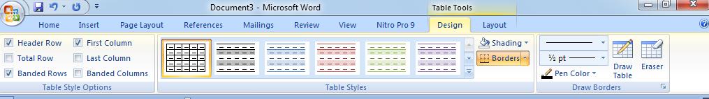 cara membuat tabel di ms word