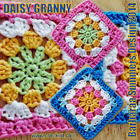 how to crochet, granny squares, daisy granny, free crochet ptterns,