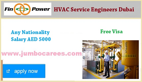 Hvac Service Engineers Jobs In Dubai With Free Visa