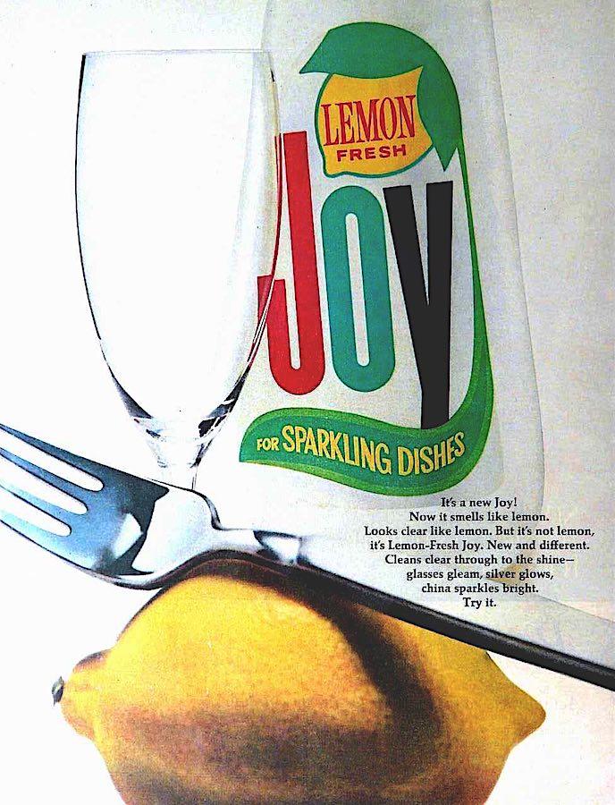1968 joy detergent