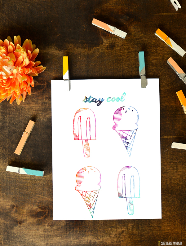 stay cool summer printable