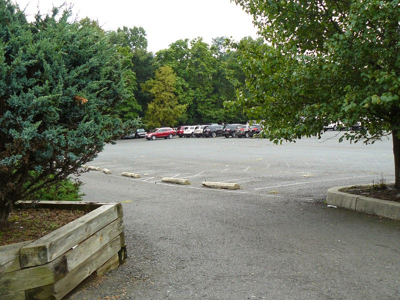 The old TJ McTurtles club parking lot now closed Greenbrook, New Jersey