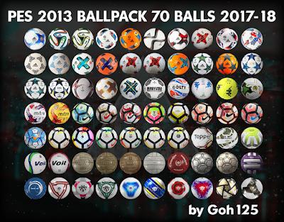 PES 2013 Ballpack ( 70 Balls ) by Goh125 Season 2017/2018