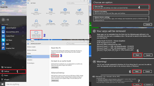 Cara Reset Windows 10 Tanpa Menghapus Data
